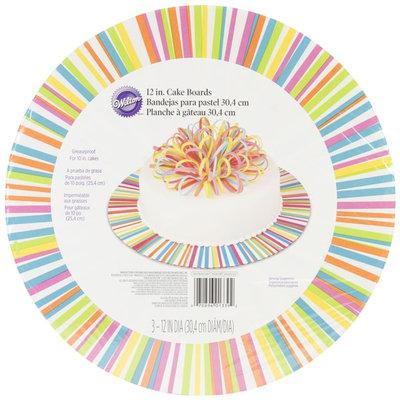 Cake Boards-12 Round Color Wheel 3/Pkg