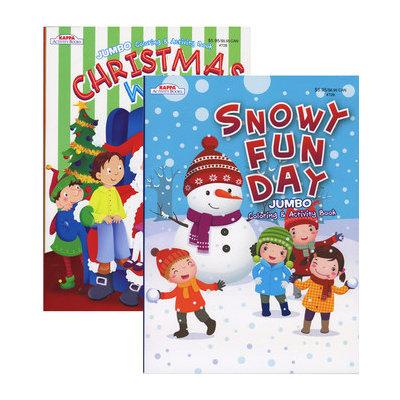 Kappa 1931387 Christmas Coloring & Activity Book Jumbo - Case of 48