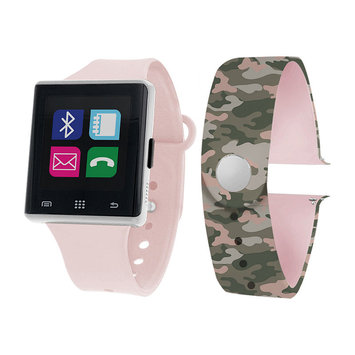 Itouch Air Air Activity Tracker & Interchangeable Band Set Pink/Camo Unisex Multicolor Smart Watch-Jcp2723s724-Blc