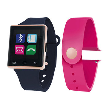 Itouch Air Air Activity Tracker & Interchangeable Band Set Navy Blue/Magenta Unisex Multicolor Smart Watch-Jcp2727rg724-Naf
