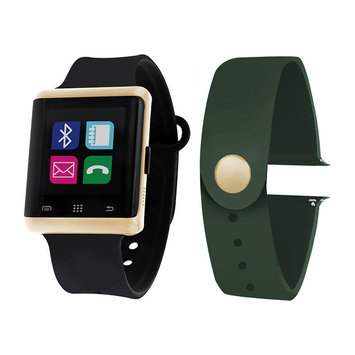 Itouch Air Air Activity Tracker & Interchangeable Band Set Black/Green Unisex Multicolor Smart Watch-Jcp5550g724-Blo