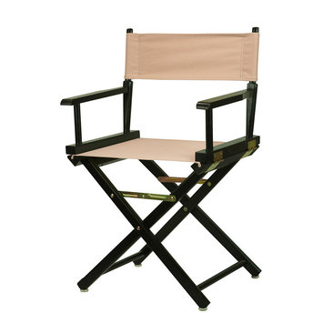 Yu Shan Director'S Chair: Director's Chair with Black Frame and Tan Canvas