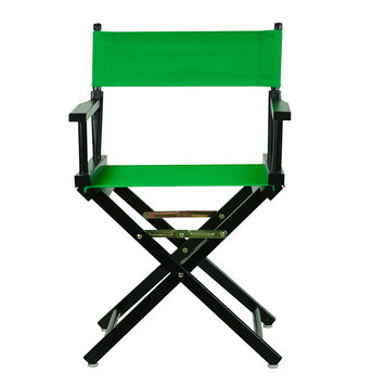 Yu Shan Director'S Chair: Director's Chair with Black Frame and Green Canvas