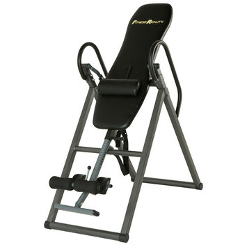 Paradigm Health And Wellness Inc Fitness Reality 690XL Additional Weight Capacity Inversion Table with Lumbar Pillow