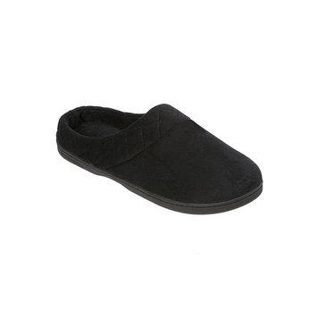 Dearfoams Microfiber Velour Clog Slippers XL, Black
