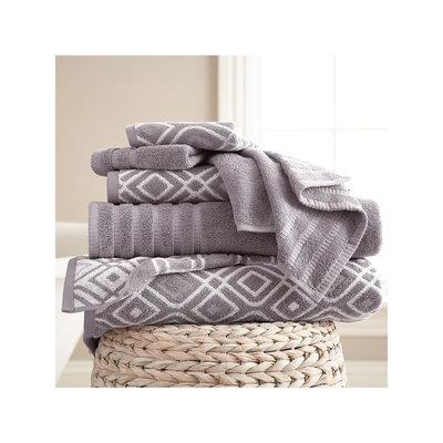 Pacific Coast Textiles Oxford Yarn Dyed 6-pc. Bath Towel Set