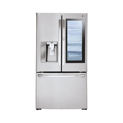 LG Electronics 30 cu. ft. 3 Door French Door Refrigerator with InstaView in Stainless Steel (Silver)