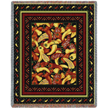 Pure Country Weavers Chili Peppers Throw
