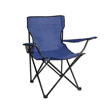ALEKO BC01 Foldable Camping Hiking Beach Chair Outdoor Picnic Lounge Patio Lawn Garden Chair, Dark Blue