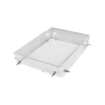 Rojo 16 Lucite Large Silver Stud Tray