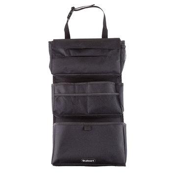 Stalwart 7-Pocket Polyester Backseat Travel Bag, Black