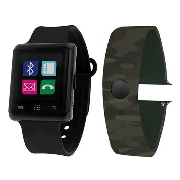 Itouch Air Air Activity Tracker & Interchangeable Band Set Black/Camo Unisex Multicolor Smart Watch-Jcp5552b724-Bca