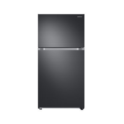 Samsung RT21M6215SG Top Freezer Refrigerator with 21 cu. ft. Capacity Factory Installed Ice Maker and 2 Refrigerator Shelves in Black Stainless
