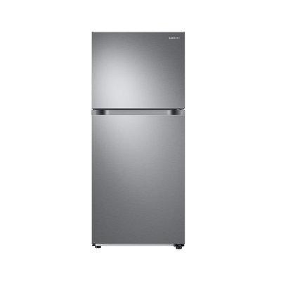 Samsung RT21M6213SR Top Mount Freezer Refrigerator with 21 cu. ft. Capacity 2 Full Size Refrigerator Shelves Crispers Door Storage and Optional Ice Maker in