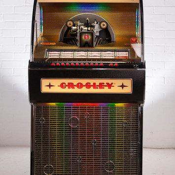 Crosley CR1210A-BK Rocket 45 Vinyl Jukebox - Black