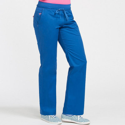 Peaches Uniforms Freedom Yoga Pant Royal/passion Pink X-Large