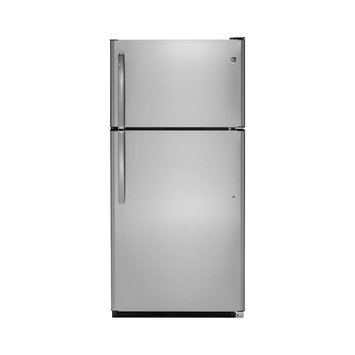 GTS21FGKWW Top Freezer Refrigerator with Glass Shelves in