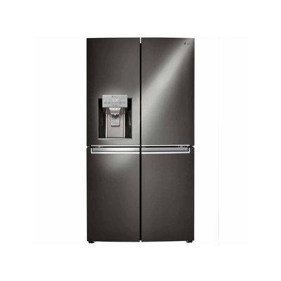Lg LNXS30866D French Door Refrigerator with 30 cu. ft. Capacity Door in Door Ice and Water Dispenser in Black Stainless