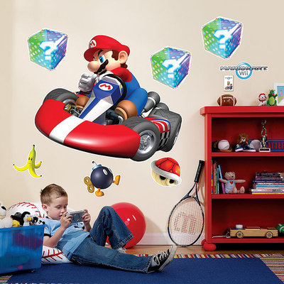 Super Mario Mario Kart Wii Giant Wall Decals