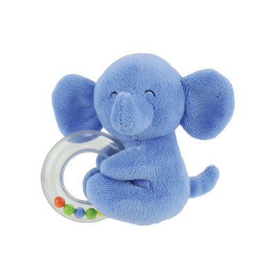 Kids Preferred Plush Elephant Teether - Blue