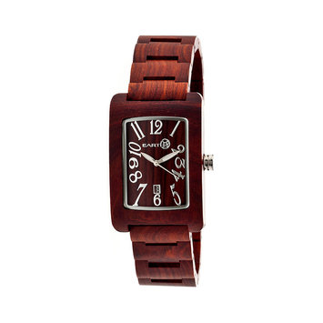 Earth Wood Trunk Watch Red Wood, One Size