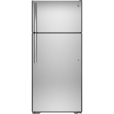 GE 17.5-cu ft Top-Freezer Refrigerator (Stainless Steel) GAS18PSJSS