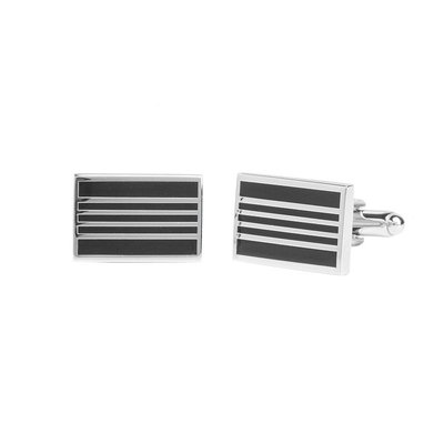 Stafford Black Stripe Cufflinks