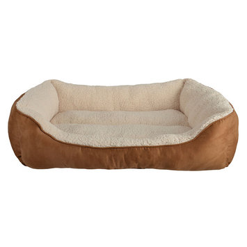 Pet Spaces Petspaces SUEDE LRG CUDDLR PET BED