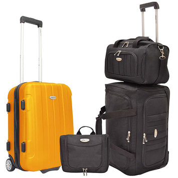 Traveler's Choice Travelers Choice Rome 4-piece Carry-on Luggage Set Carry-on Luggage Set