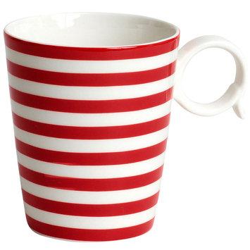 Asstd National Brand Red Vanilla Freshness Lines Coffee Mug