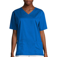 Wink Womans Vneck Top Royal Xx-Small