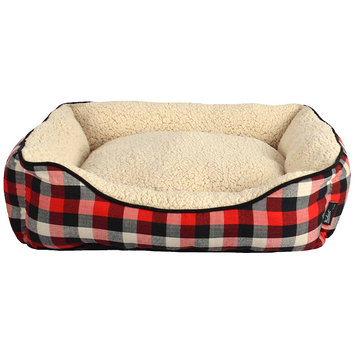 Woolrich Buffalo Plaid Cuddler Dog Bed ()