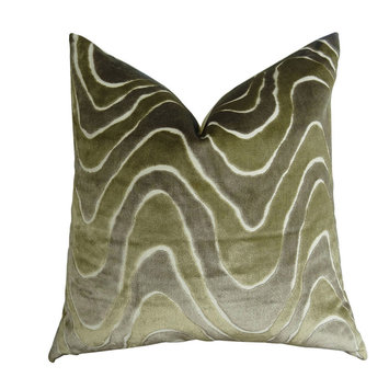 Plutus Brands PB11397-1220-SP Lush Wave 12 x 20 Handmade Throw Pillow