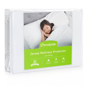 Brookside Waterproof Jersey Fitted Mattress Protector - California King