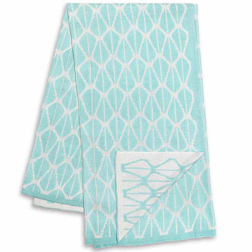 Farallon Brands The Peanut Shell Mint and White Reversible Bamboo Blanket