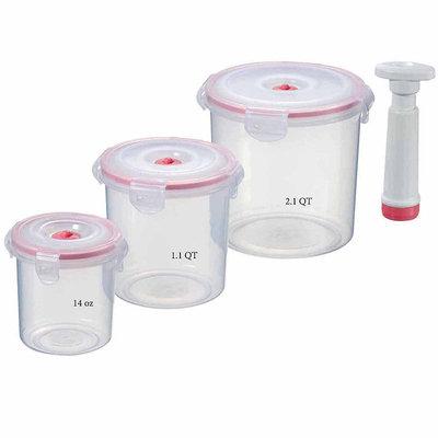 Lasting Freshness Round Shaped Food Vacuum Seal Storage Set 7 Piece