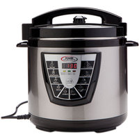 Tri-star Power Pressure Cooker XL 8 Quart, Digital Non Stick Stainless Steel Steam Slow Cooker and Canner