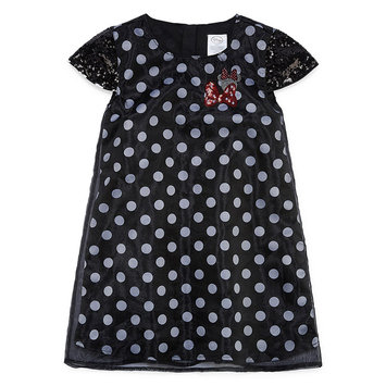 Fisher-price Disney Short Sleeve Minnie Mouse A-Line Dress - Toddler