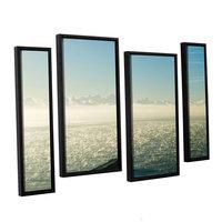 Brushstone Brushtone Fog On The Ocean 4-pc. Floater Framed Staggered Canvas Wall Art