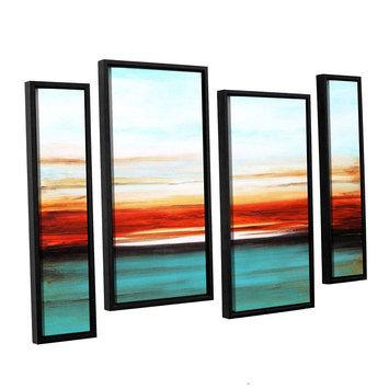 Asstd National Brand Sunset 4-pc. Floater Framed Staggered Canvas WallArt