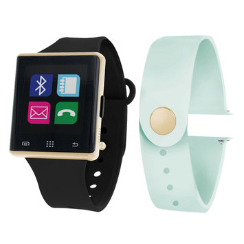 Itouch Air Air Activity Tracker & Interchangeable Band Set Black/Mint Unisex Multicolor Smart Watch-Jcp2724g724-Blm