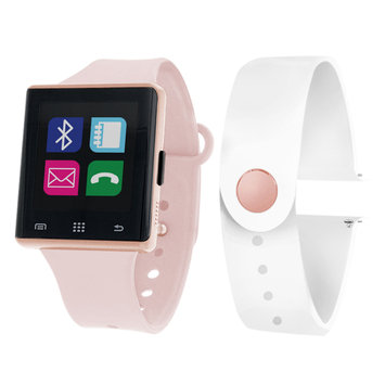 Itouch Air Air Activity Tracker & Interchangeable Band Set Pink/White Unisex Multicolor Smart Watch-Jcp2725rg724-694