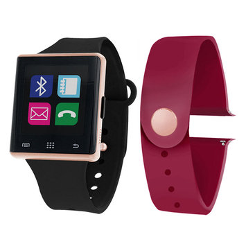 Itouch Air Air Activity Tracker & Interchangeable Band Set Black/Maroon Unisex Multicolor Smart Watch-Jcp2726rg724-Bme