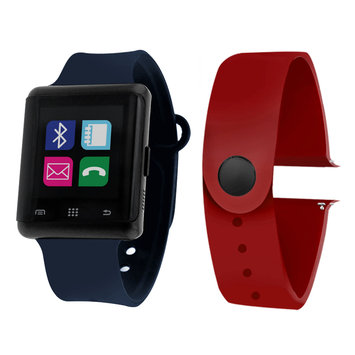 Itouch Air Air Activity Tracker & Interchangeable Band Set Blue/Red Unisex Multicolor Smart Watch-Jcp5553b724-Nab