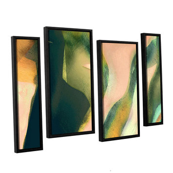 Brushstone Geometry Rising 4-pc. Floater Framed Staggered Canvas Wall Art