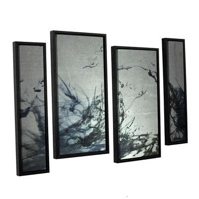Brushstone Reincarnate 4-pc. Floater Framed Staggered Canvas Wall Art