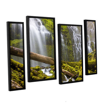 Brushstone Proxy Falls Oregon 7 4-pc. Floater Framed Staggered Canvas Wall Art
