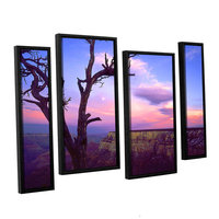 Brushstone South Rim Moon 4-pc. Floater Framed Staggered Canvas Wall Art