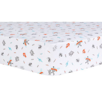 Trend Lab Llc Trend Lab Moose Canoe Animals + Insects Crib Sheet