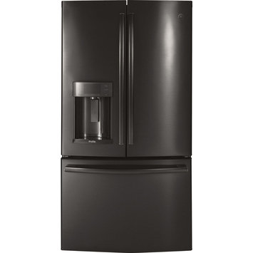GE Profile 27.8 Cu. Ft. Black Stainless Steel French Door Refrigerator